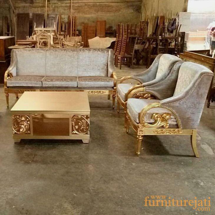 Kursi Sofa Minimalis Ukiran Mewah