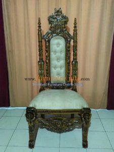 Kursi Raja Ukir Bunga Mawar