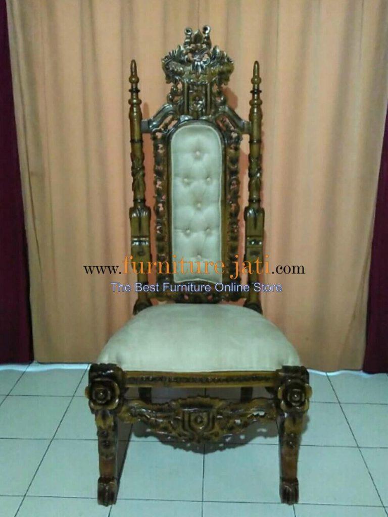 Kursi Raja Ukir Bunga Mawar, Kursi Raja Ukir Kepala Singa, Kursi Raja Mesir, Kursi Makan Raja